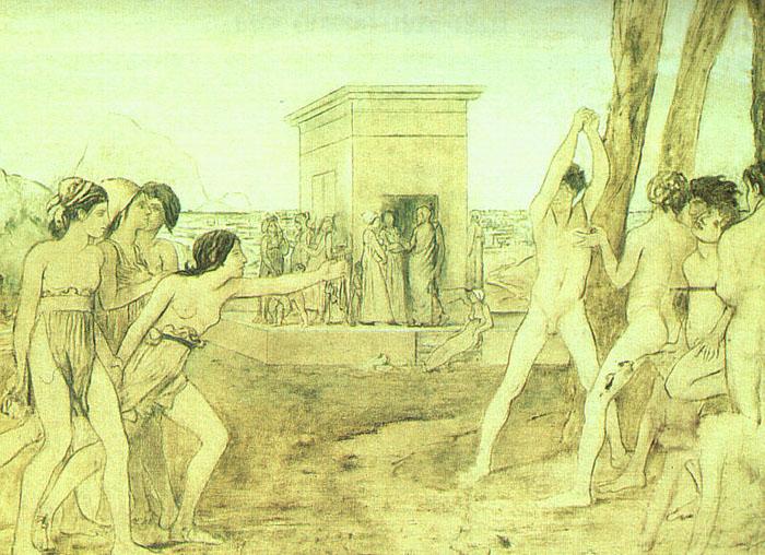 Young Spartans Exercising, 1860 - Edgar Degas