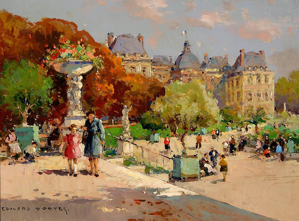 Tuileries garden edouard cortes for Jardin 19eme siecle