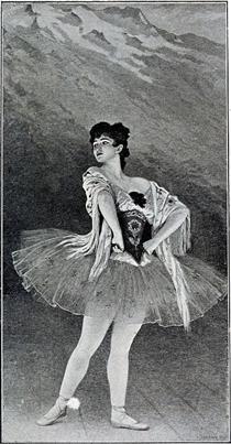 Madame Emma Sandrini. Ballet de la Maladetta - Edouard Debat-Ponsan