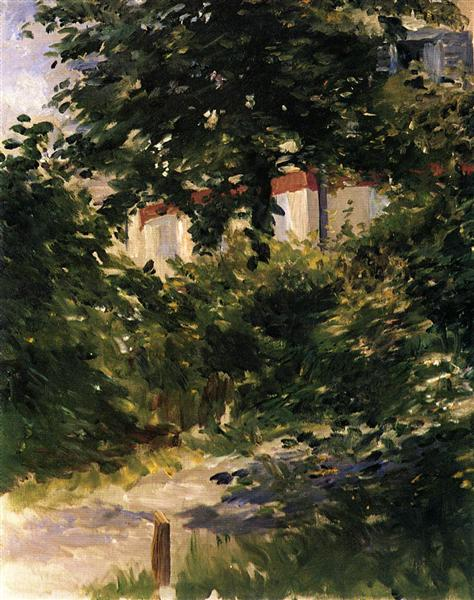 A Corner of the Garden in Rueil, 1882 - Edouard Manet