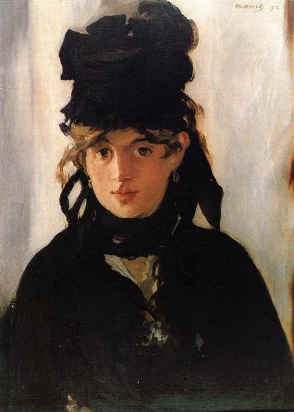 Berthe Morisot with a bouquet of violets, 1872 - Edouard Manet