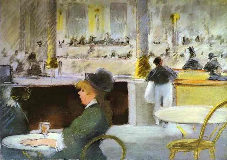 Interior of a Café, c.1880 - Edouard Manet