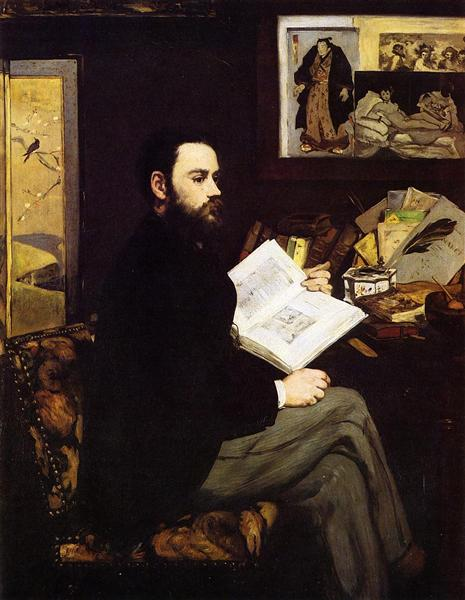 Portrait of Emile Zola, 1868 - Edouard Manet