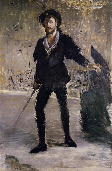 Portrait of Faure as Hamlet, c.1877 - Edouard Manet