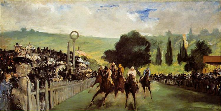 Races at Longchamp, c.1867 - Edouard Manet
