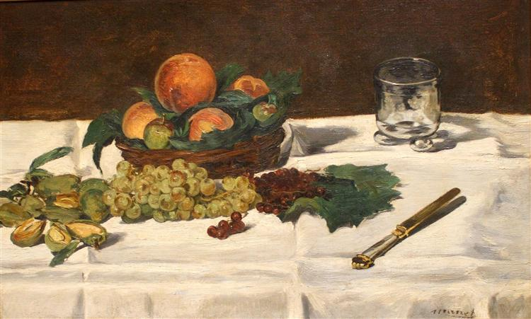 Still Life: Fruits on a Table, 1864 - Edouard Manet