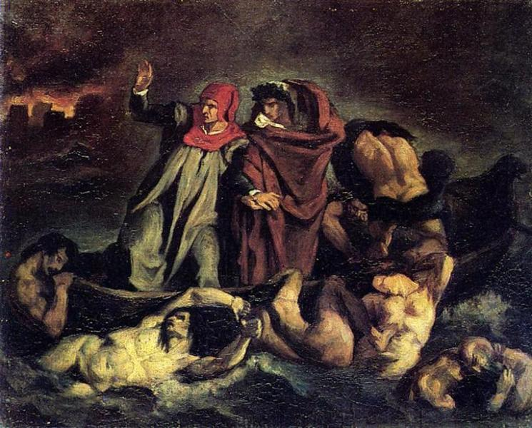 The barque of Dante (Copy after Delacroix), 1854 - Edouard Manet