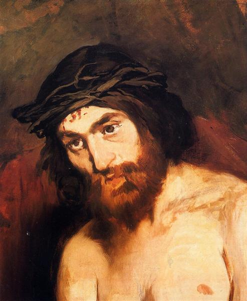 The head of Christ, c.1864 - Edouard Manet