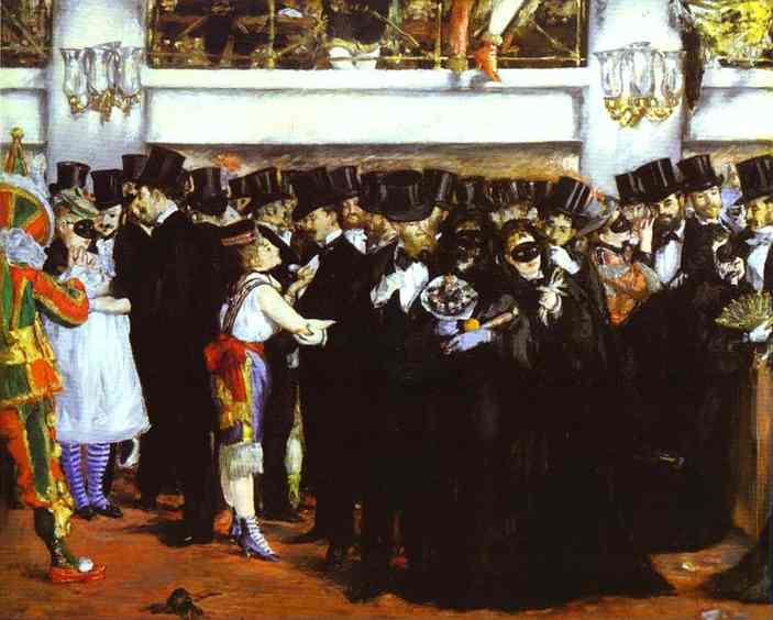 The Masked Ball at the Opera, c.1873 - Edouard Manet