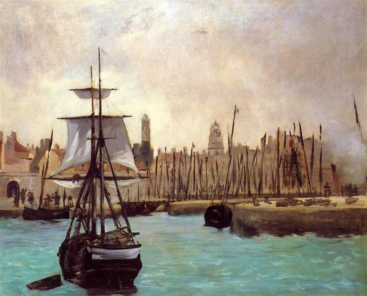 The Port of Bordeaux, 1871 - Edouard Manet
