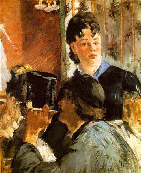The waitress Bocks, c.1879 - Edouard Manet