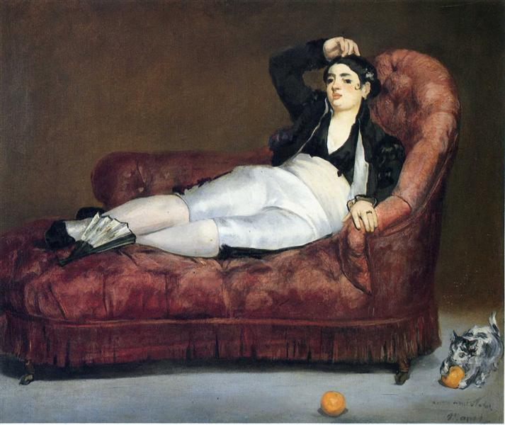 Young Woman Reclining in Spanish Costume, 1863 - Edouard Manet