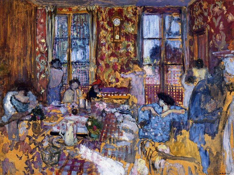 Breakfast at Villerville - Edouard Vuillard
