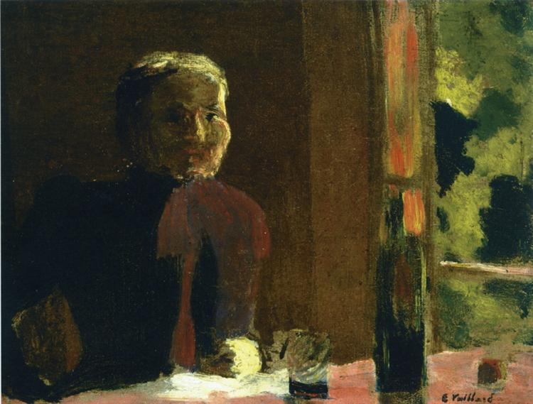 Madame Vuillard at Table, 1888 - Edouard Vuillard