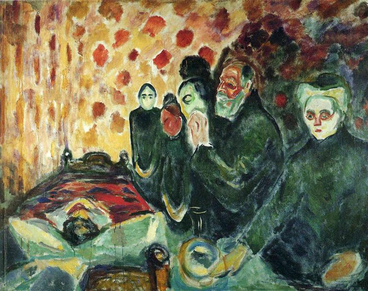 By the Deathbed (Fever) I, 1915 - Edvard Munch