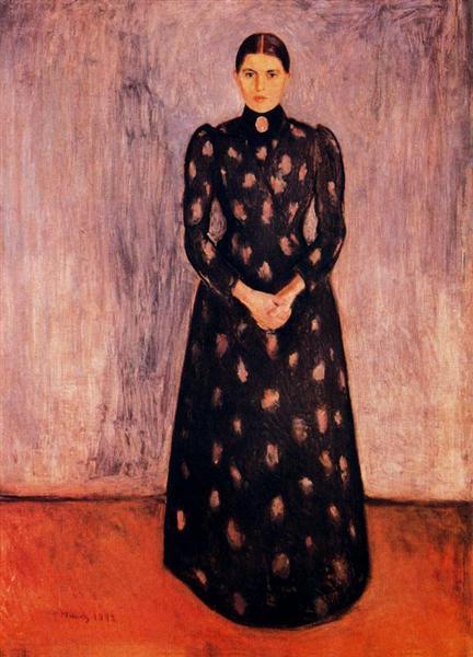 Portrait of Inger Munch, 1892 - Edvard Munch