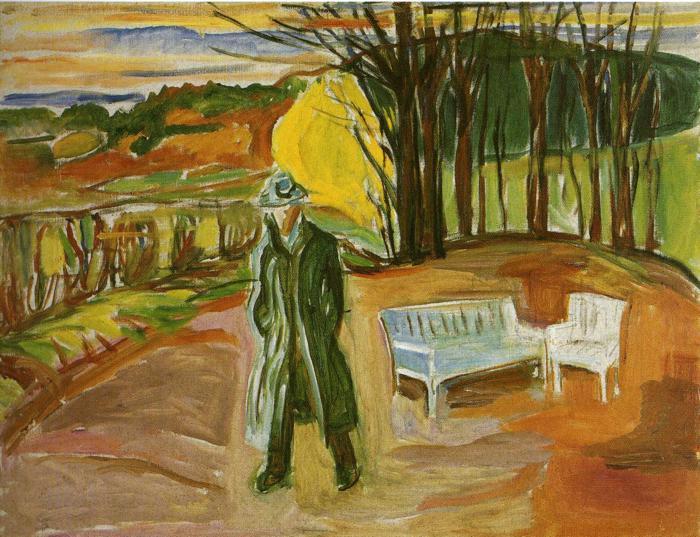 Self-Portrait in the Garden, Ekely, 1942 - Edvard Munch