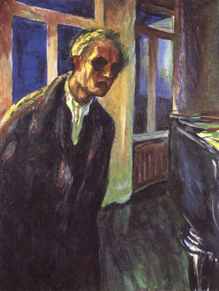 Self-portrait. The night wanderer, 1923 - 1924 - Edvard Munch