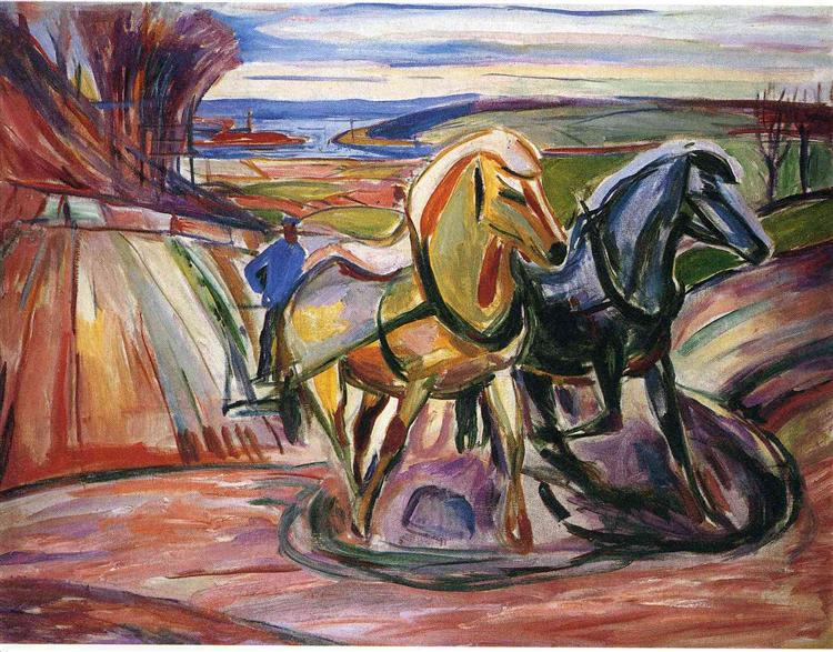 Spring Plowing, 1916 - Edvard Munch