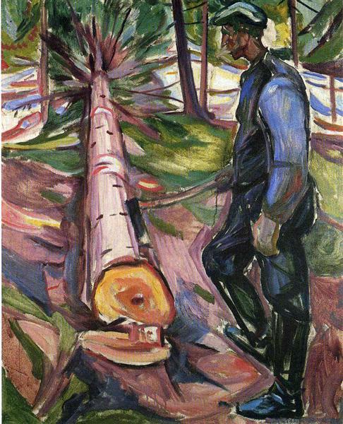 The Lumberjack, 1913 - Edvard Munch