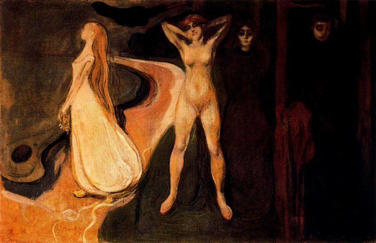 The Three Stages of Woman (Sphinx)., 1894 - Edvard Munch