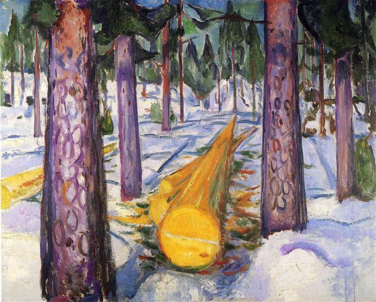 The yellow log, 1912 - Edvard Munch