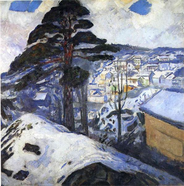 Winter, Kragero, 1912 - Edvard Munch