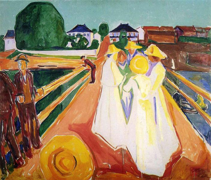 Women on the Bridge, c.1935 - Edvard Munch