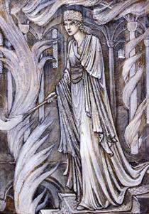 Gudrun Setting Fire to Atli's Palace - Edward Burne-Jones
