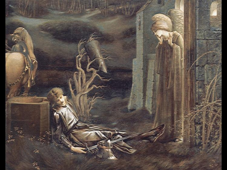 The Dream of Launcelot at the Chapel of the San Graal, 1895 - 1896 - Edward Burne-Jones
