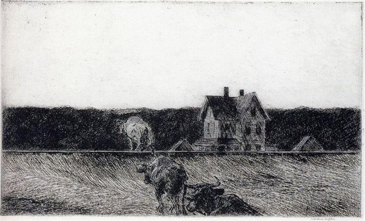 American Landscape, 1920 - Edward Hopper