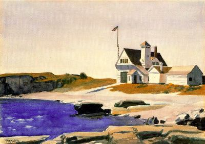 Coast Guard Station, Two Lights, Maine, 1927 - Edward Hopper