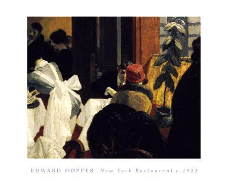 New York Restaurant, 1922 - Edward Hopper