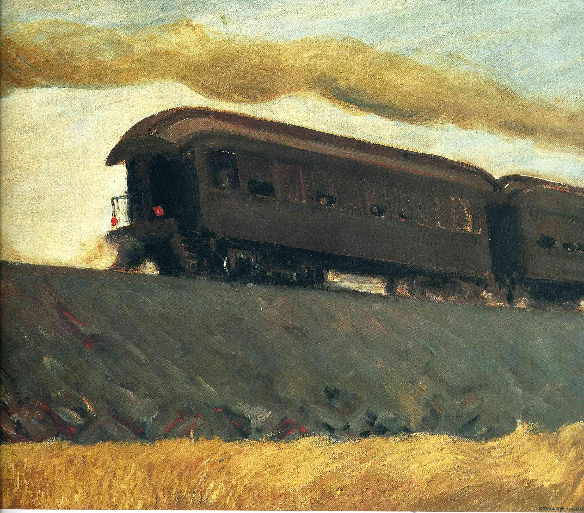 Railroad Train, 1908 - Edward Hopper - WikiArt.org
