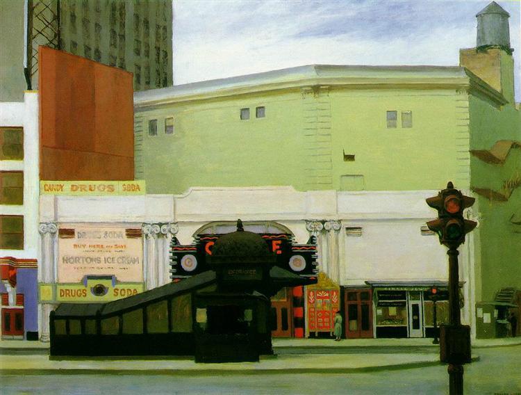 The Circle Theatre, 1936 - Edward Hopper