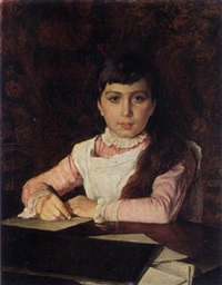 A portrait of a young girl - Edward R. Taylor