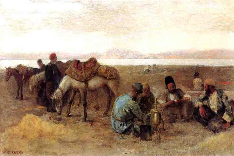 Early Morning by Lake Urumiyah, Persia, 1892 - Edwin Lord Weeks