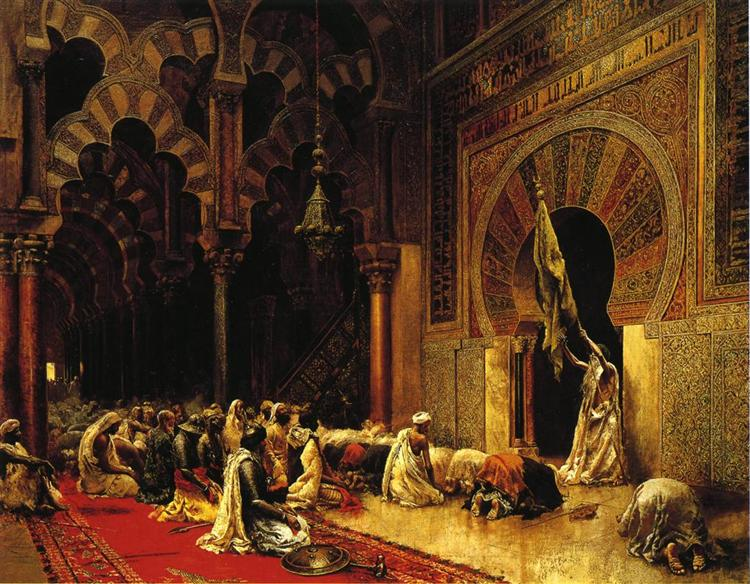Interior of the Mosque at Cordoba, c.1880 - Edwin Lord Weeks