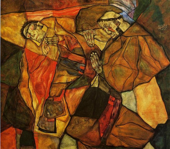 Agony, 1912 - Egon Schiele