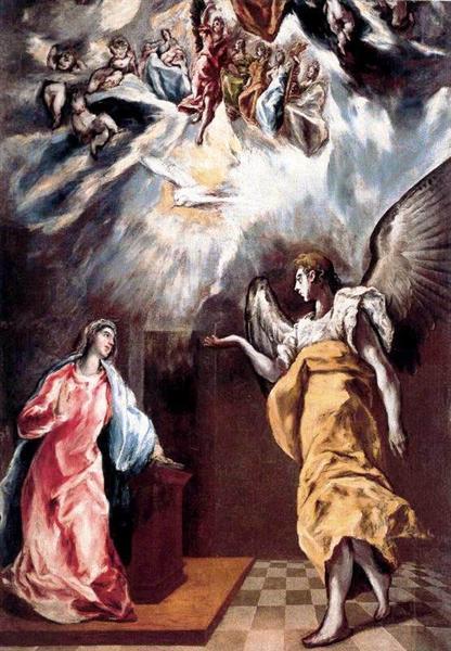 Annunciation, c.1610 - El Greco