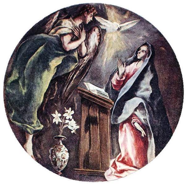 Annunciation, c.1604 - El Greco