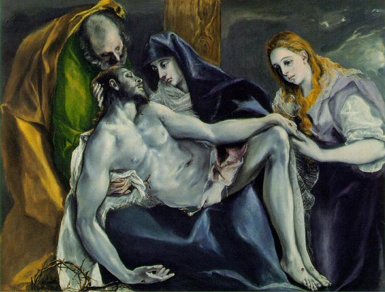 Pietà, c.1592 - El Greco