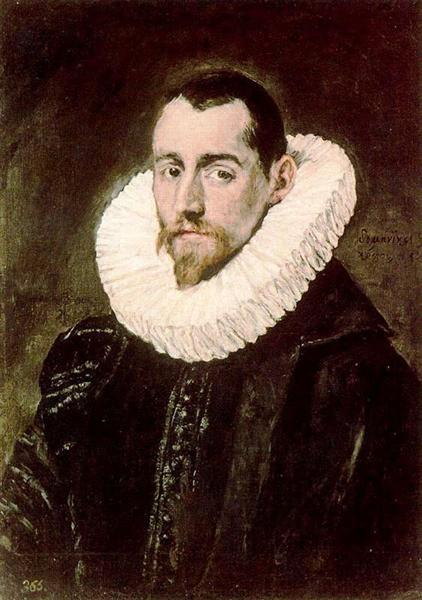 Download Portrait of a young man, c.1605 - El Greco - WikiArt.org