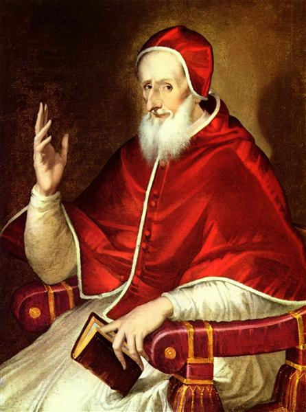 Portrait of Pope Pius V, c.1605 - El Greco