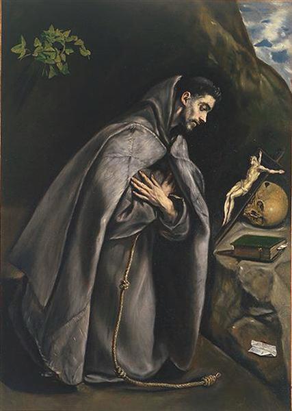 St. Francis praying, 1595 - El Greco
