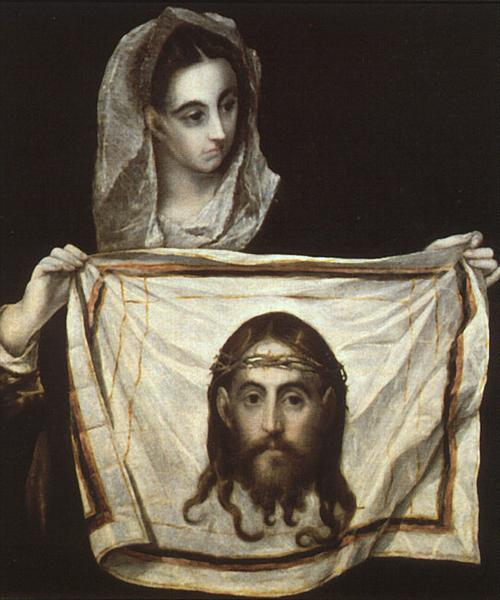 St. Veronica with the Holy Shroud, c.1580 - El Greco
