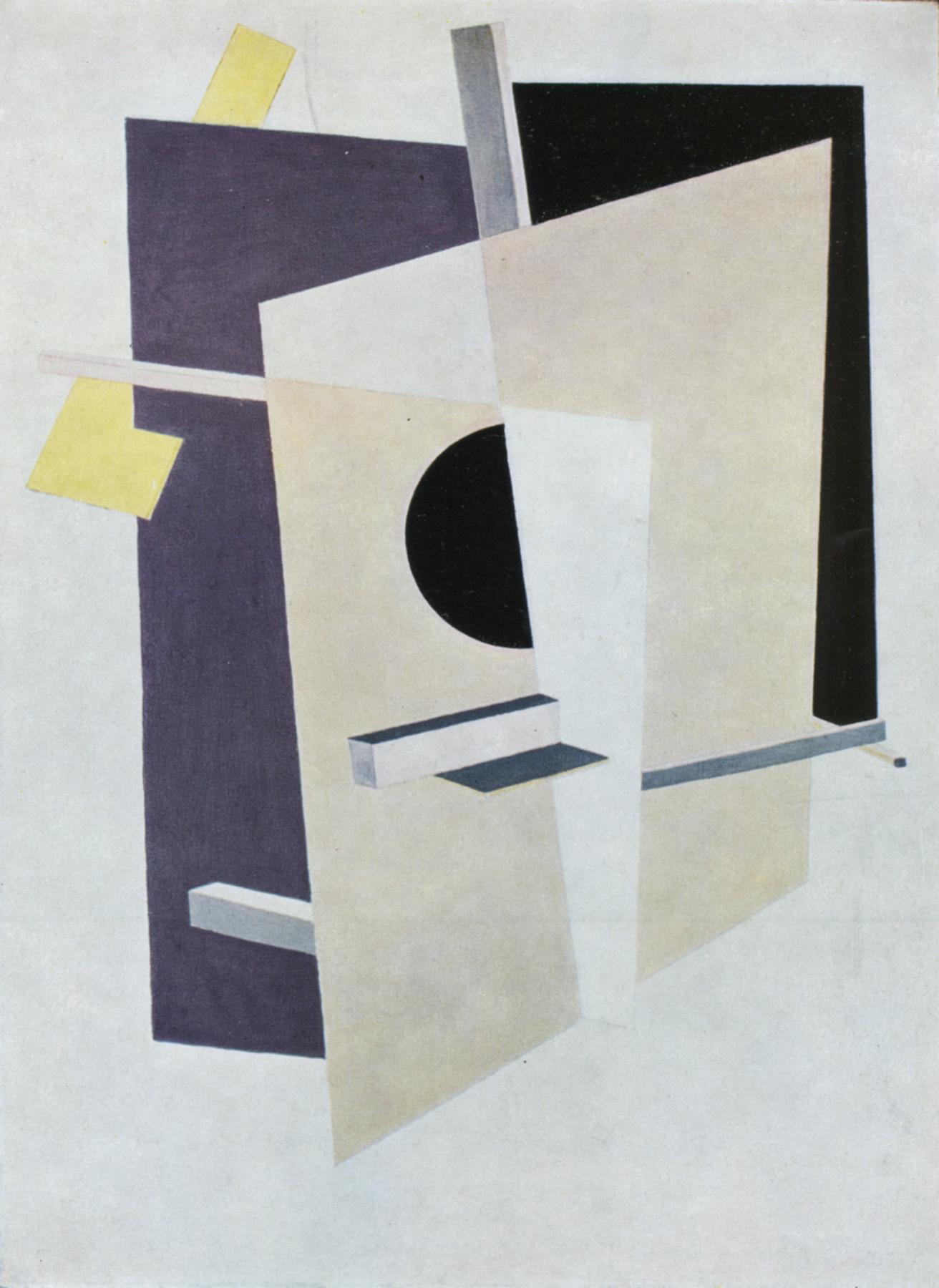 Proun Interpenetrating Planes - El Lissitzky - WikiArt.org ...