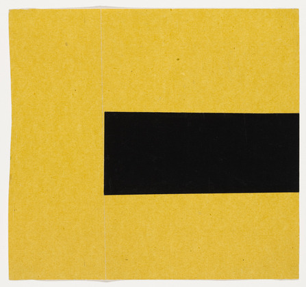 Black and Yellow from the series Line Form Color, 1951 - Ellsworth Kelly