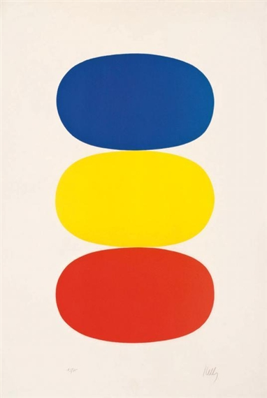 blue and yellow and red orange 1965 ellsworth kelly. Black Bedroom Furniture Sets. Home Design Ideas