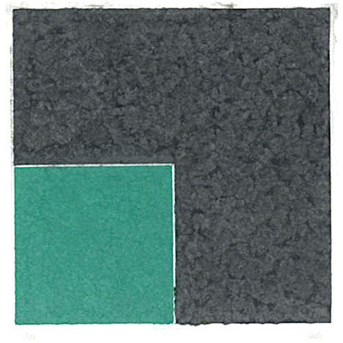 Colored Paper Image XVIII (Green Square with Grey), 1976 - Ellsworth Kelly